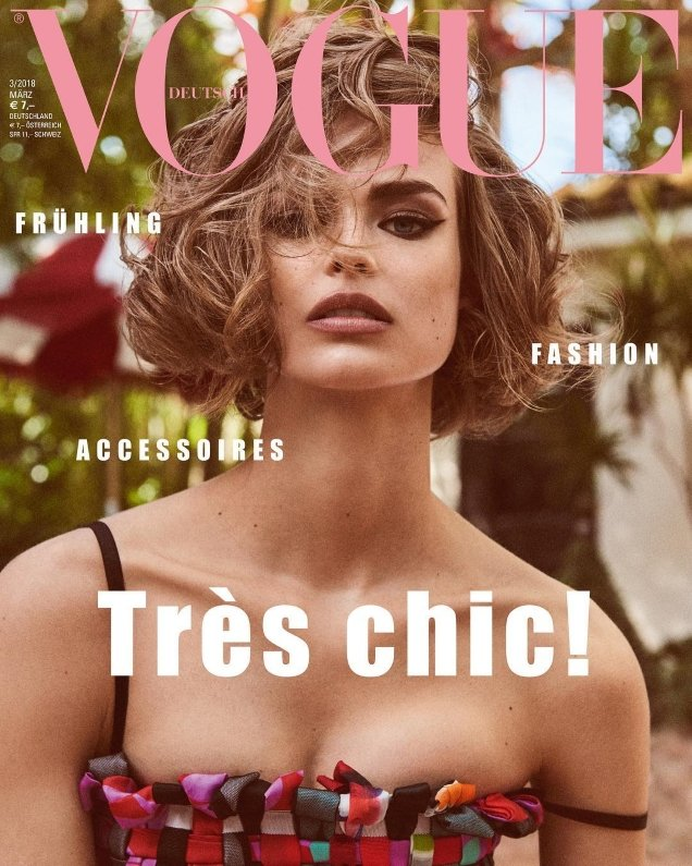 Vogue Germany March 2018 : Birgit Kos by Giampaolo Sgura