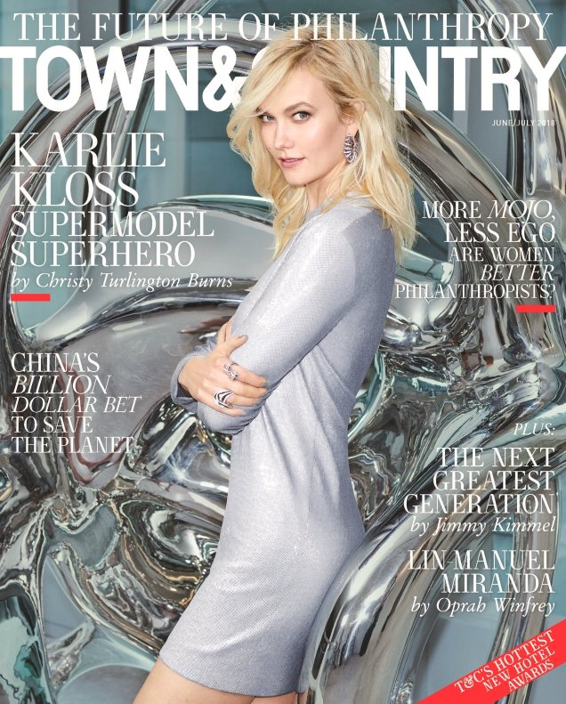 Town & Country June/July 2018 : Karlie Kloss by Max Vadukul
