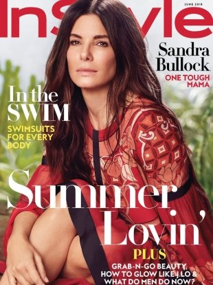 US InStyle June 2018 : Sandra Bullock by Carter Smith