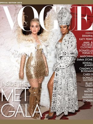 US Vogue Special Edition Met Gala 2018 : Katy Perry & Rihanna by Corey Tenold