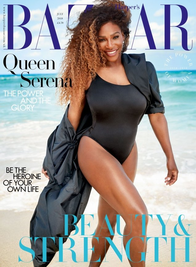UK Harper's Bazaar July 2018 : Serena Williams by Richard Phibbs