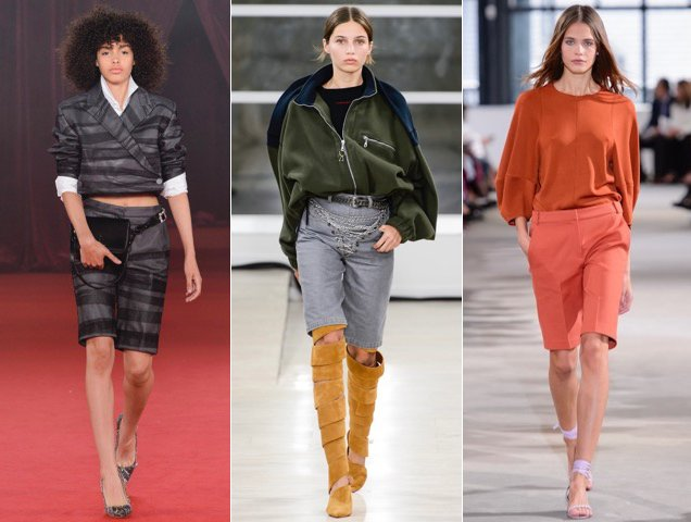 Bermuda shorts surged on the Spring 2018 runways.
