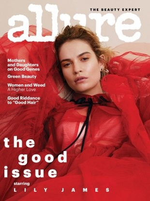 Allure August 2018 : Lily James by Sharif Hamza