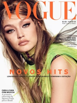 Vogue Brazil September 2018 : Gigi Hadid by Luigi & Iango