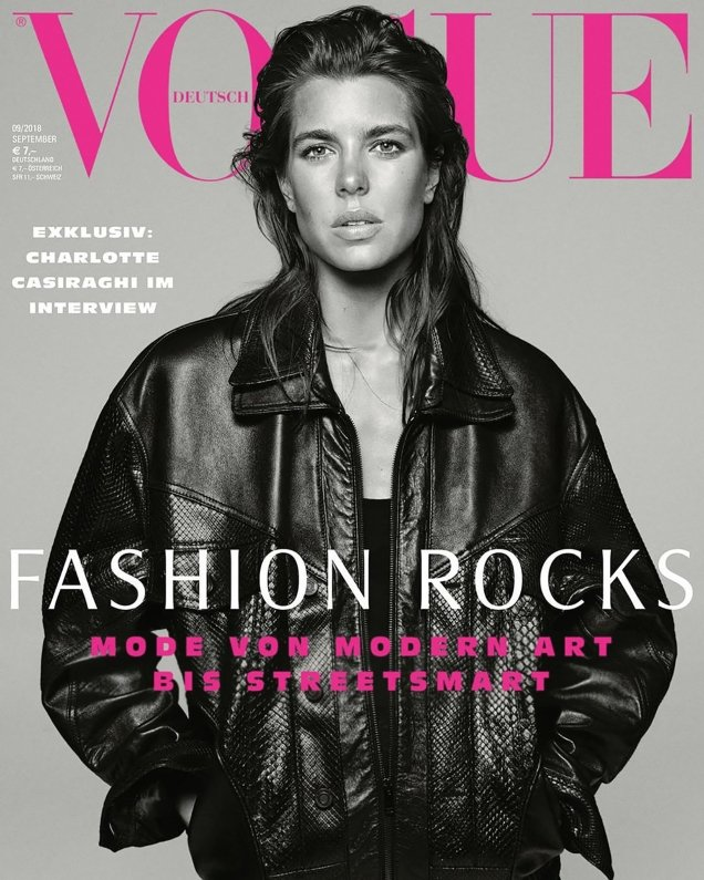 Vogue Germany September 2018 : Charlotte Casiraghi by Daniel Jackson