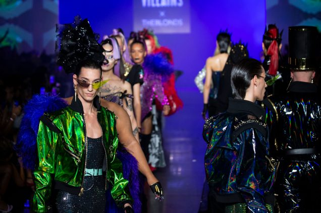 Models walk the finale at The Blonds Spring 2019.