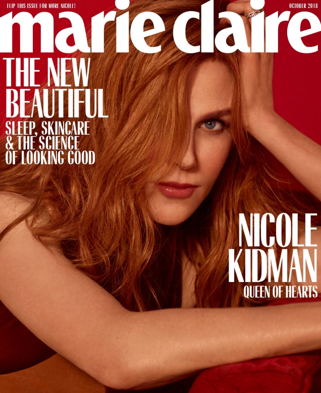 US Marie Claire October 2018 : Nicole Kidman by Thomas Whiteside
