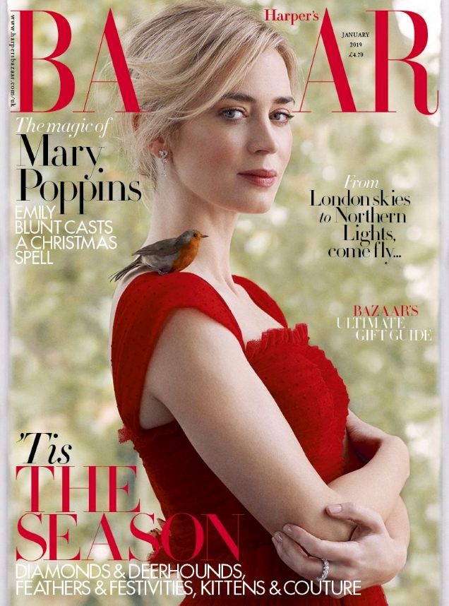 UK Harper's Bazaar January 2019 : Emily Blunt by Richard Phibbs
