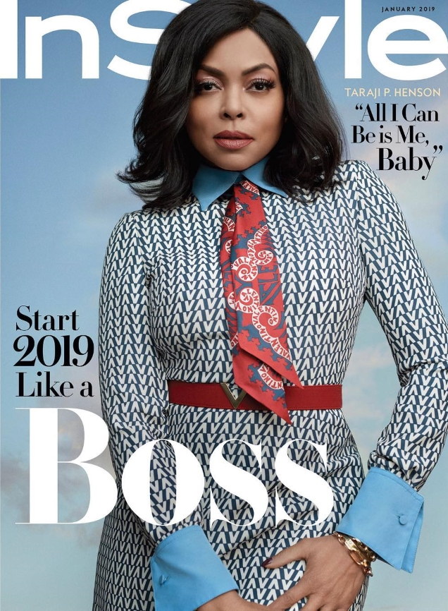 US InStyle January 2019 : Taraji P. Henson by Robbie Fimmano