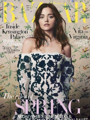UK Harper's Bazaar April 2019 : Jenna Coleman by David Slijper