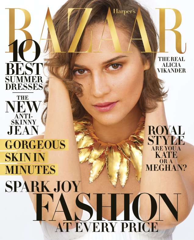 US Harper's Bazaar April 2019 : Alicia Vikander by Mariano Vivanco