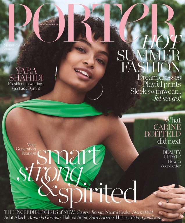 Porter #32 Summer 2019 : Yara Shahidi by Cass Bird