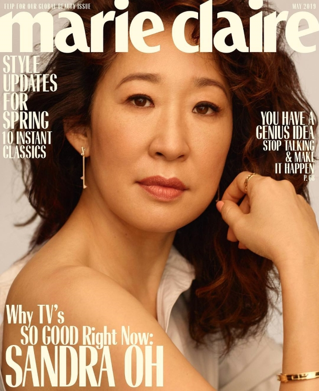 US Marie Claire May 2019 : Sandra Oh, Thandie Newton & Elisabeth Moss by Thomas Whiteside
