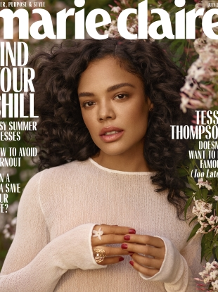US Marie Claire July 2019 : Tessa Thompson by Thomas Whiteside