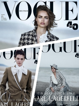 Vogue Germany July 2019 : Birgit Kos, Luna Bijl & Vittoria Ceretti by Peter Lindbergh