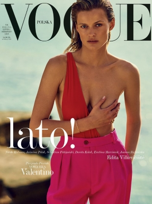 Vogue Poland July/August 2019 : Edita Vilkeviciute by Chris Colls