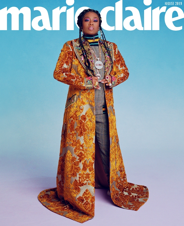 US Marie Claire August 2019 : Missy Elliott by Micaiah Carter