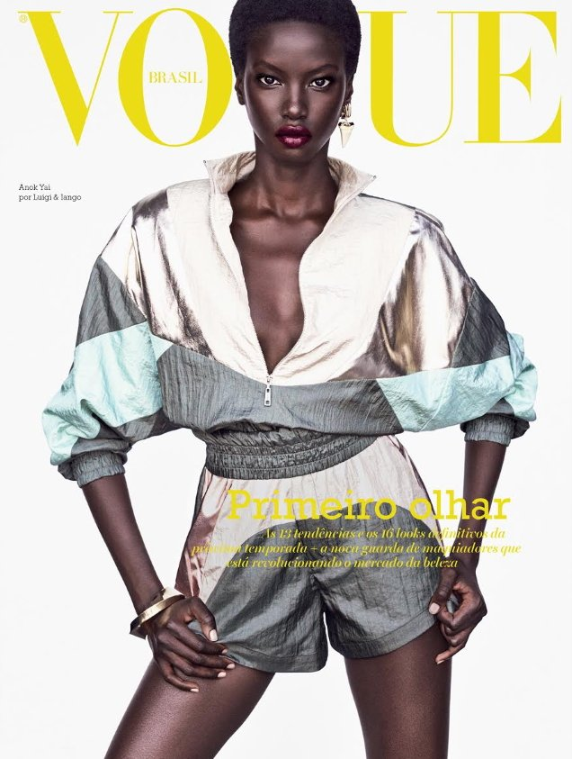 Vogue Brazil August 2019 : Anok Yai & Alton Mason by Luigi & Iango