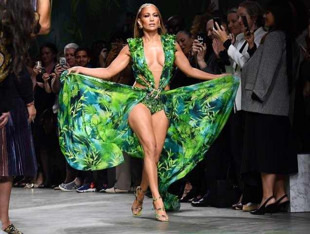 Jennifer Lopez at Versace Spring 2020