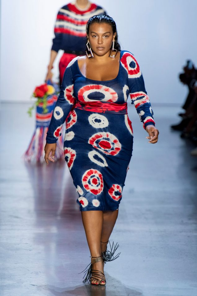 Paloma Elsesser on the Prabal Gurung Spring 2020 runway.