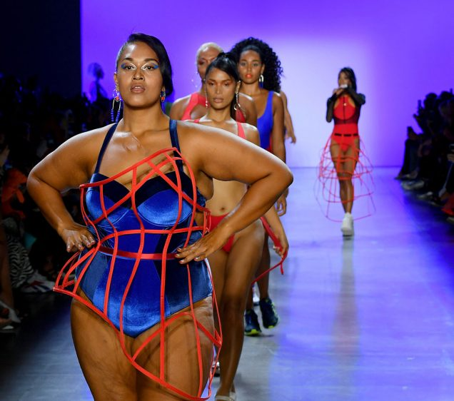 Models walk the runway for Chromat's Spring 2020 show in New York.