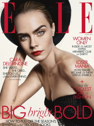UK Elle October 2019 : Cara Delevingne by Liz Collins