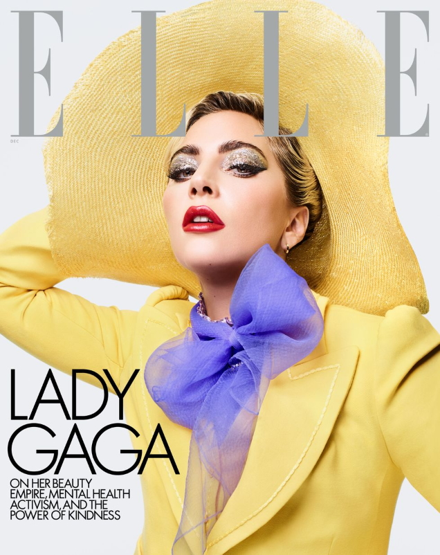 US Elle December 2019 : Lady Gaga by Sølve Sundsbø