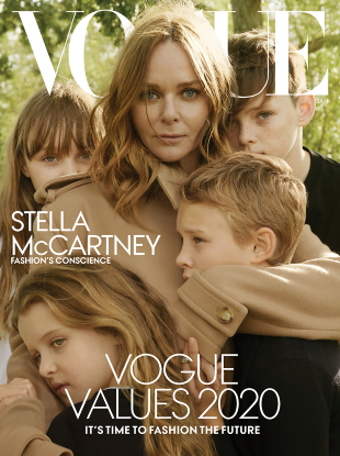 US Vogue January 2020 : Stella McCartney & Family by Annie Leibovitz