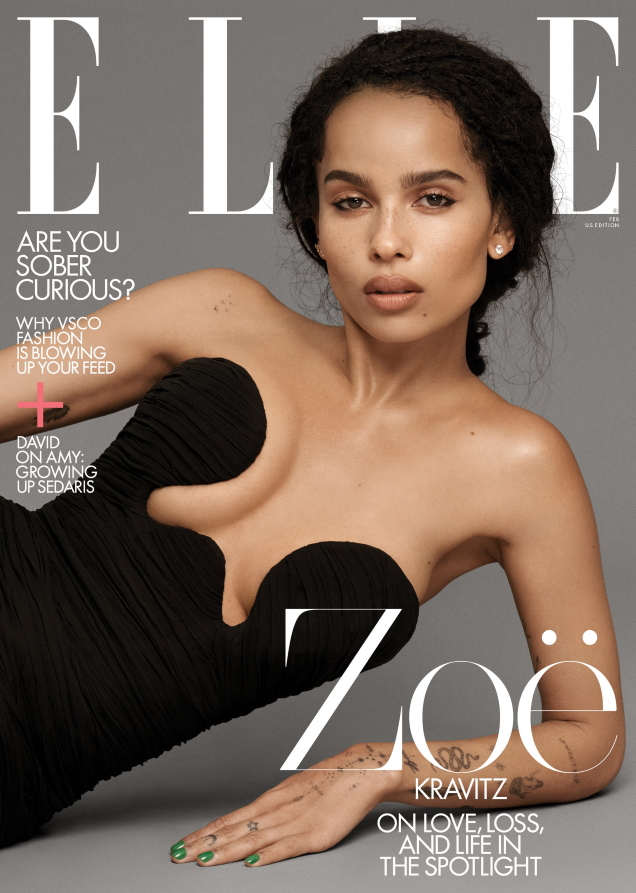 US Elle February 2020 : Zoë Kravitz by Paola Kudacki