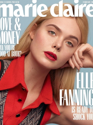 US Marie Claire February 2020 : Elle Fanning by Thomas Whiteside