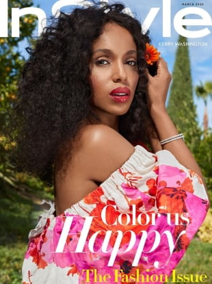 US InStyle March 2020 : Kerry Washington by Sebastian Faena