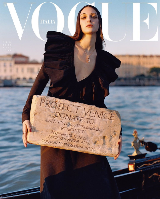 Vogue Italia February 2020 : Vittoria Ceretti by Oliver Hadlee Pearch