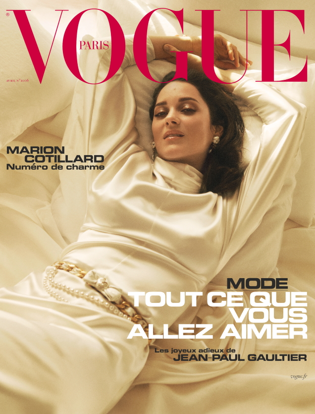 Vogue Paris April 2020 : Marion Cotillard by Lachlan Bailey
