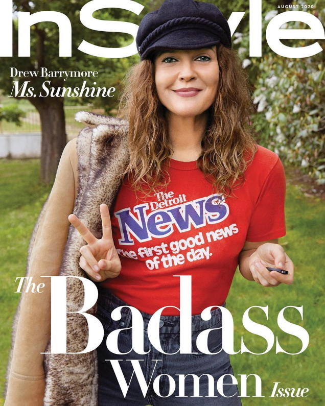 US InStyle August 2020 : Drew Barrymore by Drew Barrymore