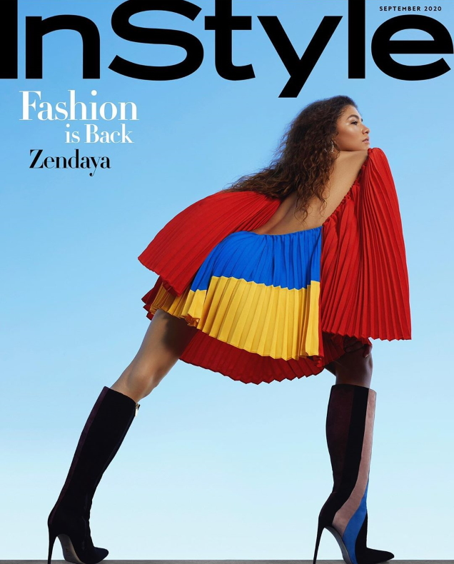 US InStyle September 2020 : Zendaya by AB+DM