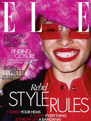 UK Elle September 2020 : Adwoa Aboah by Liz Johnson Artur