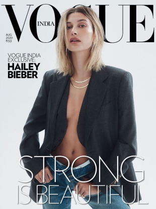 Vogue India August 2020 : Hailey Bieber by Zoey Grossman