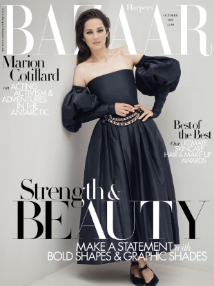 UK Harper's Bazaar October 2020 : Marion Cotillard by Serge Leblon