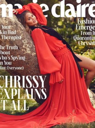US Marie Claire Fall 2020 : Chrissy Teigen by Lauren Dukoff