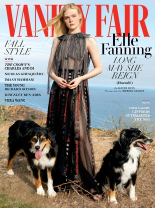 Vanity Fair October 2020 : Elle Fanning by Tierney Gearon