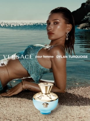 Versace 'Dylan Blue' Fragrance 2020 : Bella Hadid & Hailey Bieber by Harley Weir