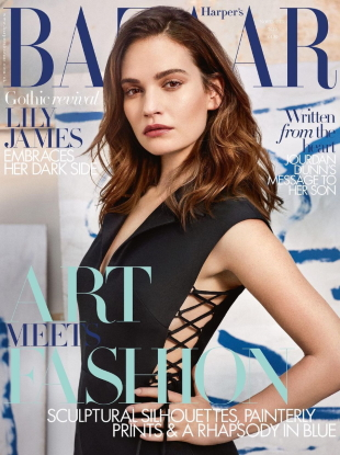 UK Harper's Bazaar November 2020 : Lily James by Agata Pospieszynska