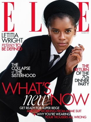 UK Elle November 2020 : Letitia Wright by Marcin Kempski
