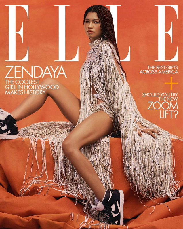 US Elle December 2020/January 2021 : Zendaya by Micaiah Carter