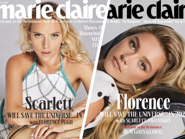 Scarlett Johansson and Florence Pugh help Marie Claire close 2020