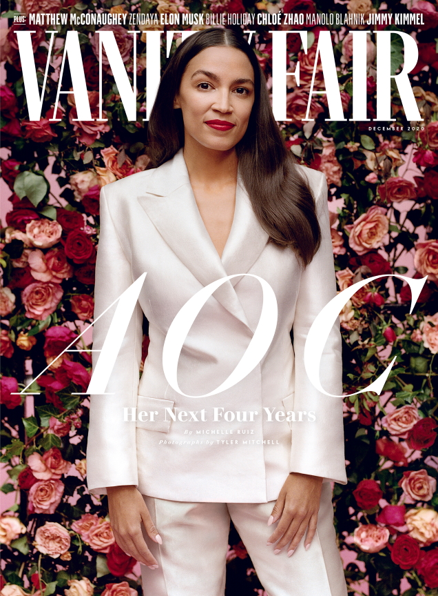 Vanity Fair December 2020 : Alexandria Ocasio-Cortez by Tyler Mitchell