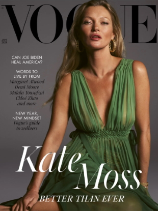 UK Vogue January 2021 : Kate Moss by Mert Alas & Marcus Piggott