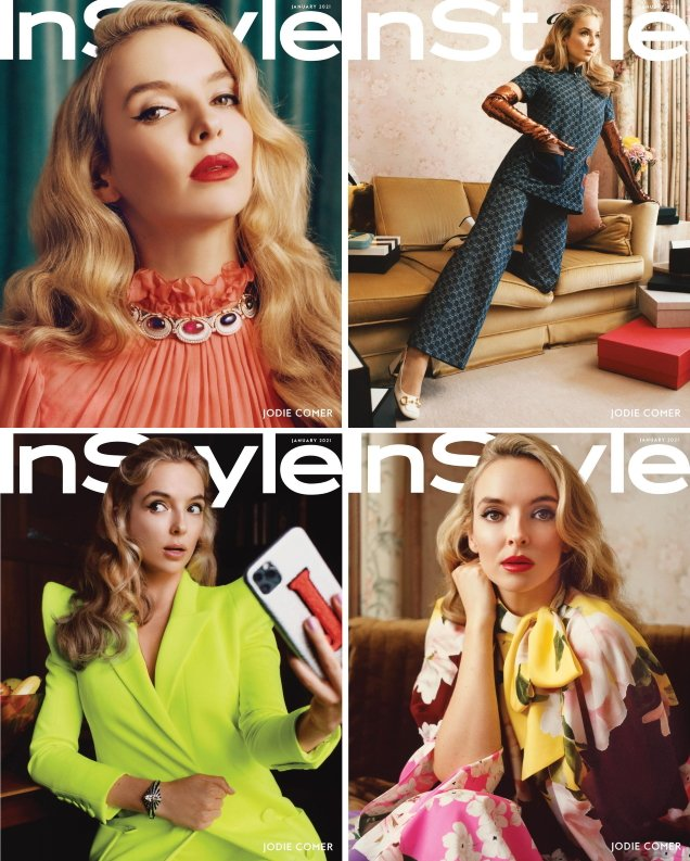 US InStyle January 2021: Jodie Comer by Charlotte Hadden