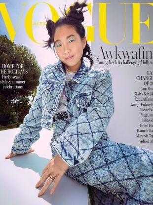 Vogue Australia December 2020 : Awkwafina by Charles Dennington