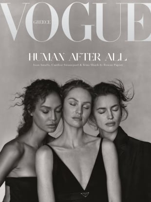 Vogue Greece December 2020 : Candice Swanepoel, Irina Shayk & Joan Smalls by Rowan Papier